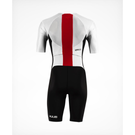 Huub-DS-Long course-Trisuit-White-Red-Back